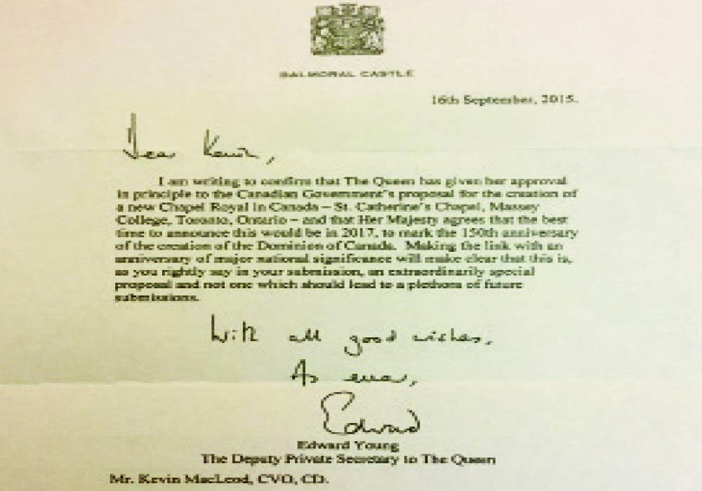 The official royal letter.