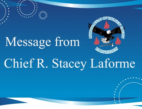 Message From Chief R. Stacey Laforme – May 2017