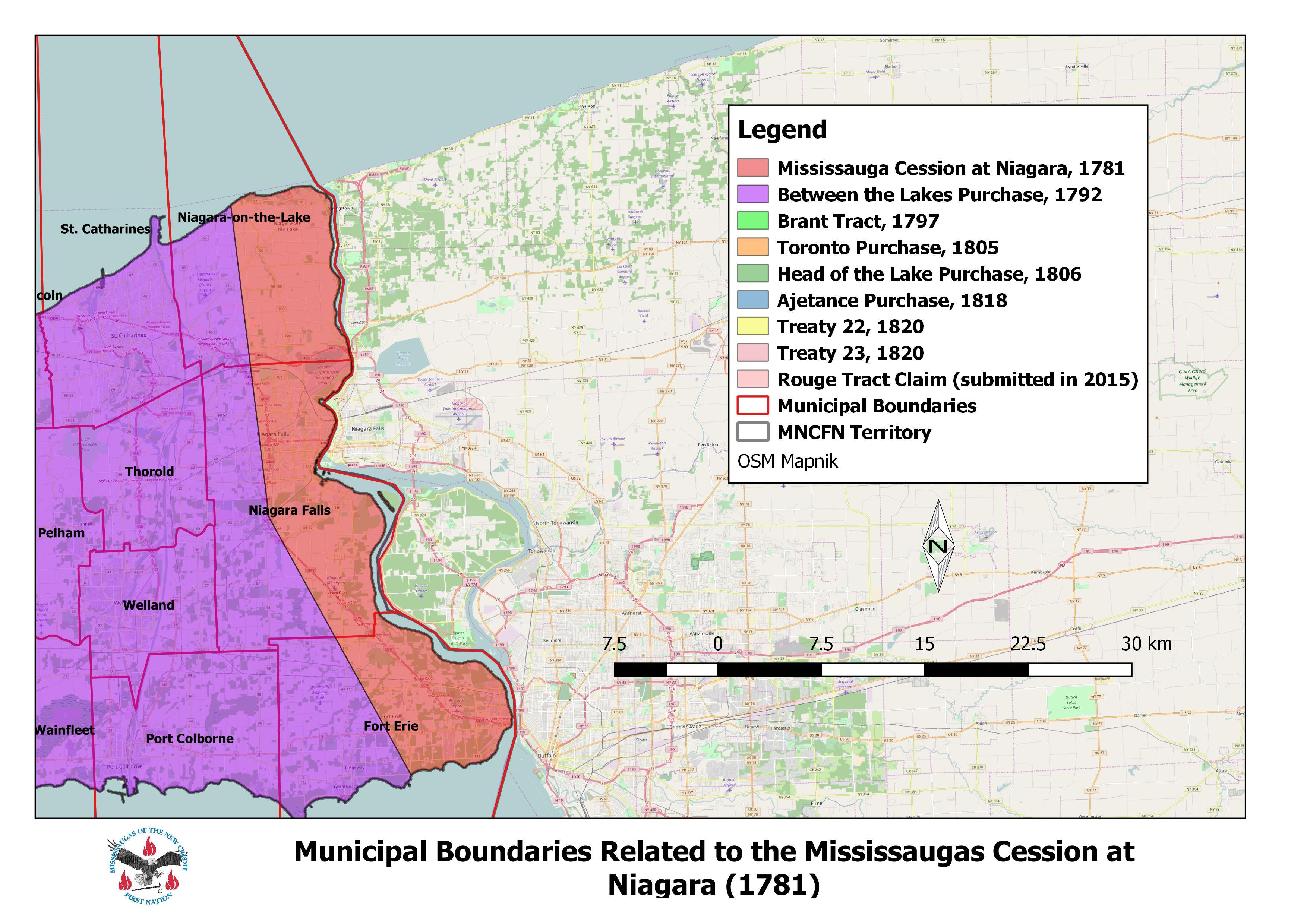 Mississauga Cession At Niagara Mississaugas Of The New
