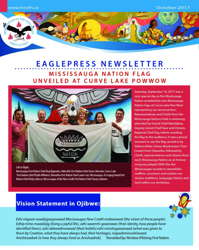 OCTOBER 2017 Mississaugas of the Credit First Nation Eaglepress Newsletter