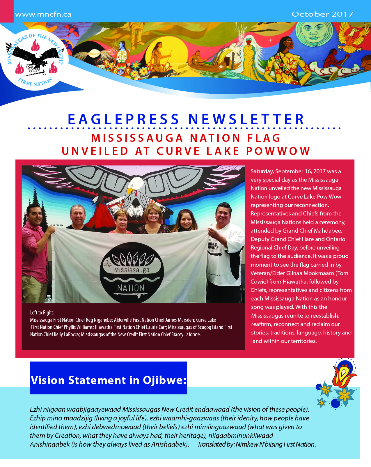 OCTOBER 2017 Mississaugas of the New Credit First Nation Eaglepress Newsletter