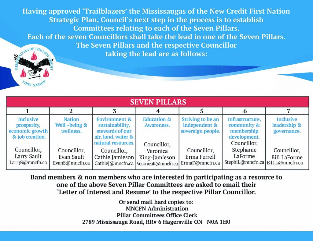 MNCFN Council Looking for Pillar Committee Members