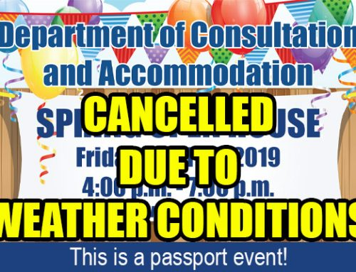 DOCA Spring Open House CANCELLED