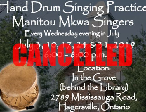 Hand Drumming and Singing Practice Cancelled