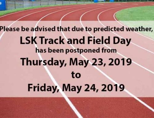 LSK Track and Field Day Postponed