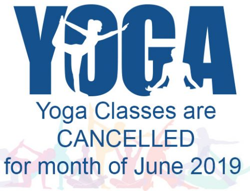 June Yoga classes are cancelled