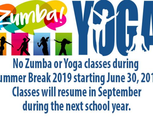 No Zumba or Yoga Classes – Summer Break