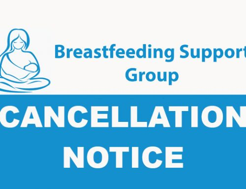 Breastfeeding Support Group Summer Cancellation Notice