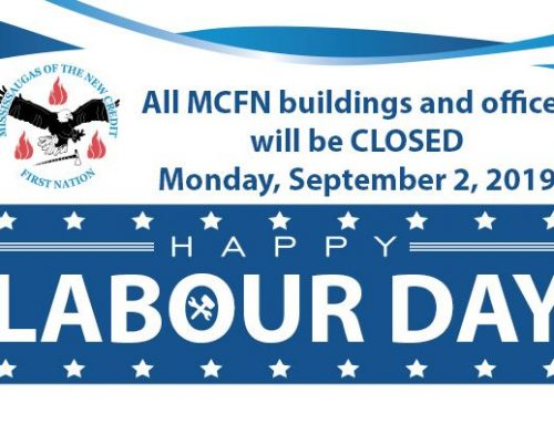 ALL MCFN OFFICES WILL BE CLOSED FOR LABOUR DAY SEPT. 2 AND WILL REOPEN SEPT. 3 AT 8:30 A.M.