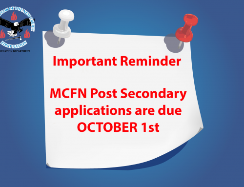 MCFN Post Secondary Notice