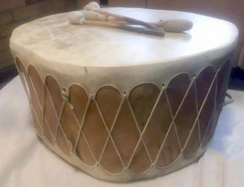 Big Drum Gifted to MCFN Massey College office