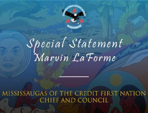 Special Statement – Marvin LaForme