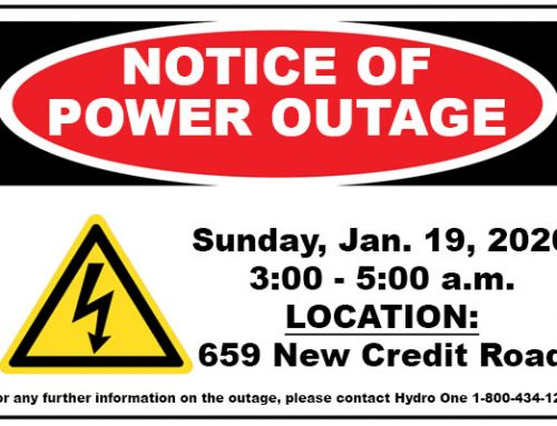 Notice of Power Outage