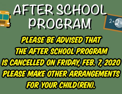 After School Program – Cancellation Notice