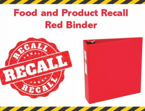 The Food & Product Recall Red Binder
