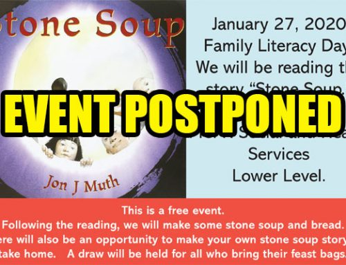 Stone Soup Event Postponed