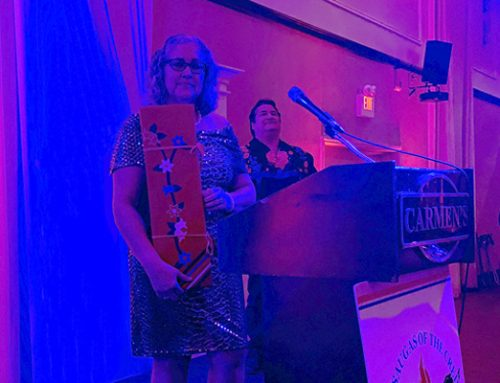 Margaret Sault Gifted Eagle Feather at Historial Gathering Gala