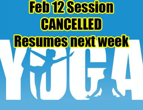 Yoga Cancelled for Wednesday, Feb. 12, 2020