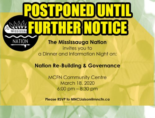 Mississauga Nation Dinner and Information Night Postponed