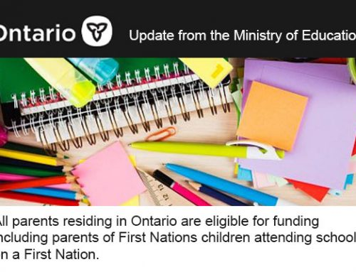 Update on Financial Assistance from the Ministry of Education