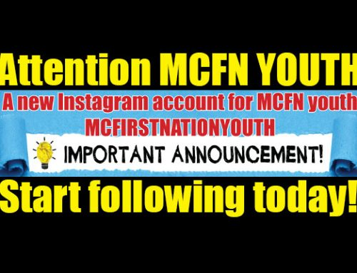 Announcement!  New MCFN Youth Instagram Account Officially Up for Business
