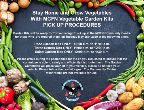MCFN Vegetable Garden Kit Pick Up Procedures