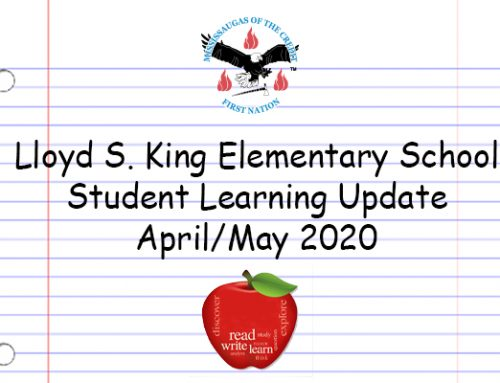 Lloyd S. King Elementary School Student Learning Update