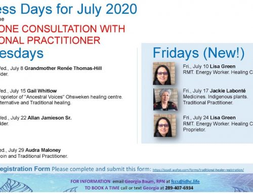 IDHC Elder-Practitioner Program for July