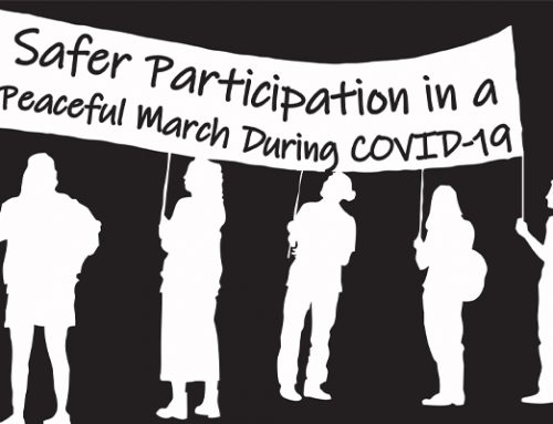 Safer Participation in a Peaceful March During COVID-19