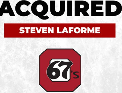 Ottawa 67's Acquire MCFN Steven LaForme from North Bay Battalions