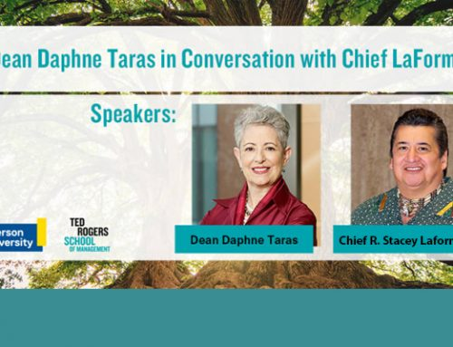 Dean Daphne Taras in Conversation with Chief LaForme