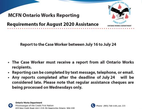 Ontario Works August Reporting Requirements