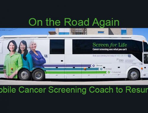 Mobile Cancer Screening Coach to Resume!