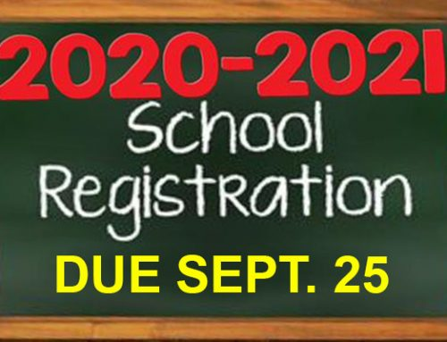 REMINDER: LSK Student Registration Forms