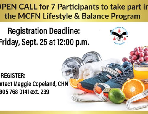 OPEN CALL for 7 Participants to take part in the MCFN Lifestyle & Balance Program