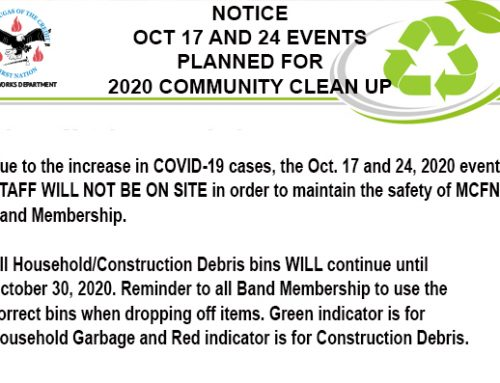 2020 Community Cleanup Notice