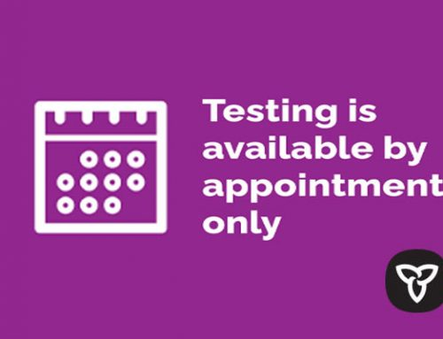 Ontario Ministry of Health:  Testing by Appointment Only