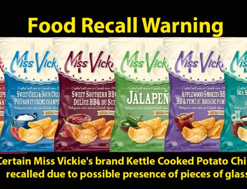 Food Recall Warning – Certain Miss Vickie's brand Kettle Cooked Potato Chips recalled due to possible presence of pieces of glass