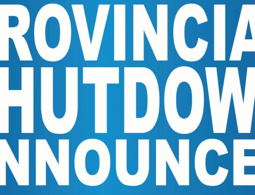 Provincewide Shutdown Announced