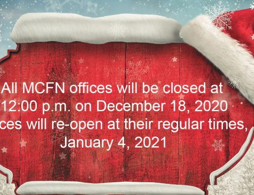 MCFN Notice of Holiday Closure