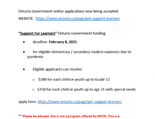 Elementary and Secondary students: Ontario funding applications