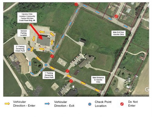 Map of Vaccine Clinic (MCFN Community Centre)
