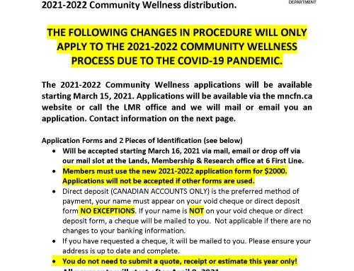 2021-2022 Community Wellness Notice