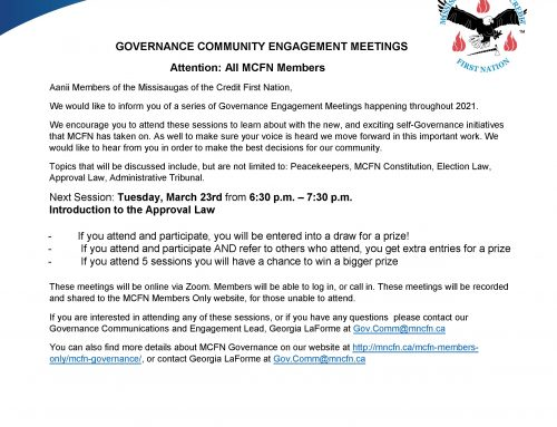 Governance Engagement Session – TOMORROW