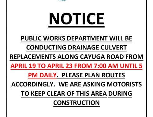 Public Works Notice – Drainage Culvert Replacement Along Cayuga Road – between Mississauga Road and Second Line Road