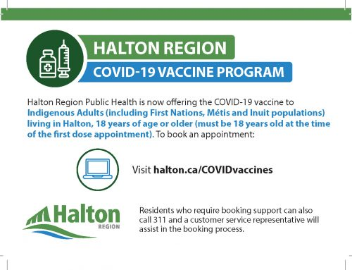 Indigenous Adults can now book COVID-19 Vaccine appointments in Halton