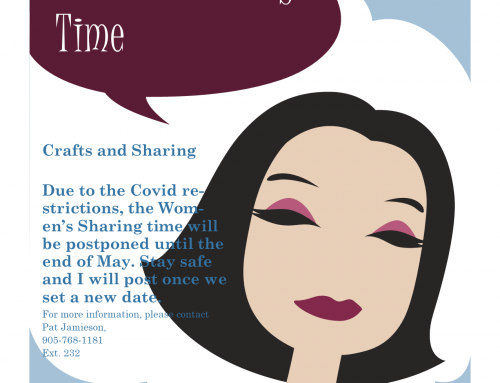 Women's Sharing Time postponed until end of May