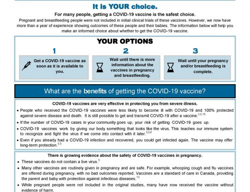 COVID-19 Vaccine information for people Pregnant / Breastfeeding