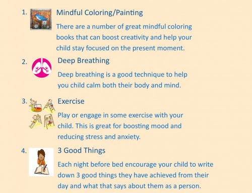 Tips for Mental Health Week – 5 things to do with your child at home to help them look after their Mental Health