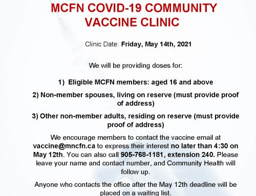 MCFN COVID-19 Vaccine Clinic – May 14th